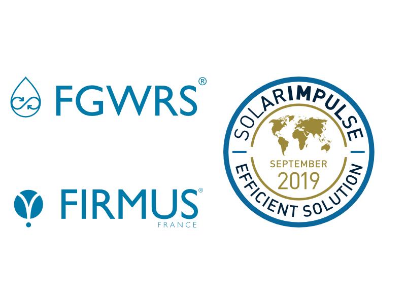 Le Procédé Firmus Grey Water Recycling System (FGWRS®) Obtient Le Label Solar Impulse Efficient Solution !